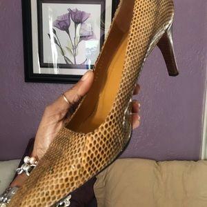 Gucci snakeskin high heels